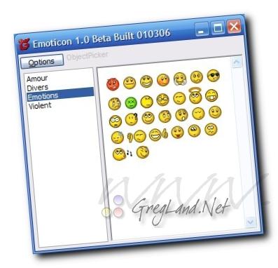 La toute première version de Emoticon en 2006