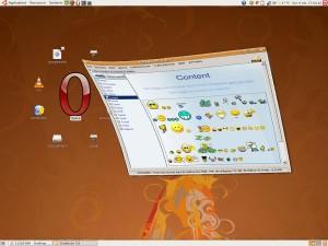 Emoticon exécuté sur Ubuntu